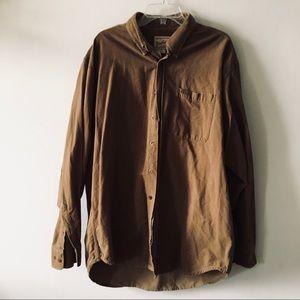 WOOLRICH men's size 2X light brown corduroy shirt
